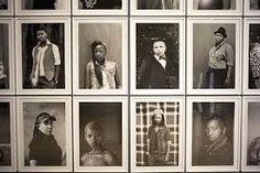 Zanele muholi's  black and white photographs - representing the L.G.B.T community.