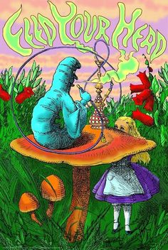 alice in wonderland quotes Alice in Wonderland - Caterpillar Hookah - Black Light Poster Hippie Posters, Hippie Art, Psychedelic Drawings, Painting, Black Light Posters, Art Collage Wall, Art, Alice In Wonderland Poster, Prints