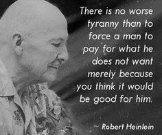 Heinlein had it right...way ahead of his time.