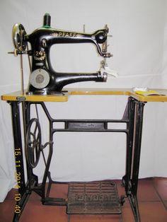 Pfaff Ledernähmaschine.Nähmaschine.Stärke bis 6 mm. Vollfunktionsfähig   eBay (Pfaff model 24, left handed sewing machine)
