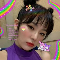 Kpop Girl Groups, Kpop Girls, K Pop, Kang Seulgi, Red Velvet Seulgi, Cybergoth, Cute Icons, Kpop Aesthetic, Ulzzang Girl