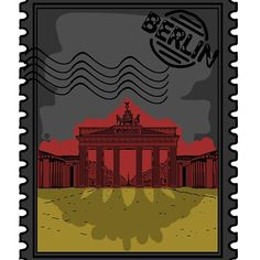 'Berlin Stamp - Germany Flag' by Framed Prints, Canvas Prints, Art Prints, Cool Stickers, Art Boards, Cool T Shirts, Berlin, Germany, Laptop