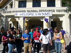 New Student Orientation in front of the GRC-2009 by wnmumustangs, via Flickr