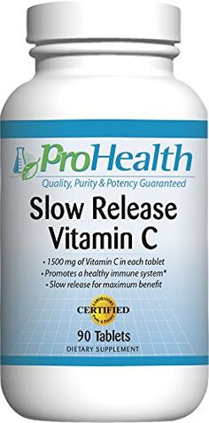 ProHealth Slow Release Vitamin C (1,500 mg, 90 tablets) ** Want to know more, click on the image.