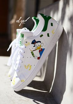 timeless design dafbe dfe84 Custom Adidas. Scrooge McDuck. Hand Painted By  Diana Ponzo Custom Shoes,  Adidas