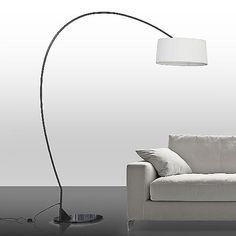 dexter arc floor lamp with grey shade crate and barrel for the home pinterest arc floor lamps floor lamp and crates