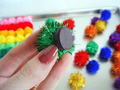 Love the idea of making magnetic pom pom balls - would be great for pattern work