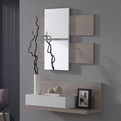 Meuble d'entrée avec miroir moderne VERATY