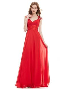 Ever Pretty plesové šaty s flitry červené