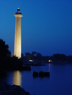 Perry's Monument, Put-in-Bay on South Bass Island, Ohio~ Lake Erie. It is big, but was closed for repairs when we visited. Marblehead Ohio, Marblehead Lighthouse, Lake Erie Ohio, Put In Bay Ohio, Kelleys Island, Places To Travel, Places To Visit, Best Weekend Getaways, The Buckeye State