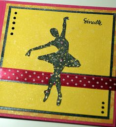 A ballerina card for P*skarteluhaaste #113