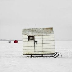 Ice Huts By Richard Johnson *