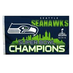 Seattle Seahawks Flag Super Bowl XLVIII NFL Champions 3x5 Banner
