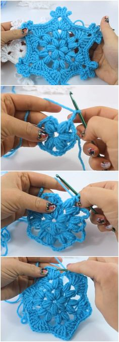Learn To Crochet Beautiful Snowflake