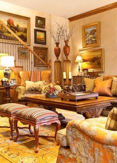 Yellow, Golden & Brown Living Room
