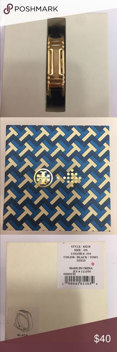 Tory Burch Fitbit Bracelet Tory Burch, Black and Gold, Authentic, NWT Tory Burch Accessories