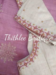 Silk Saree Blouse Designs, Fancy Blouse Designs, Blouse Neck Designs, Lehenga Designs, Silk Sarees, Embroidery Neck Designs, Embroidery Patterns, Maggam Work Designs, Designer Blouse Patterns