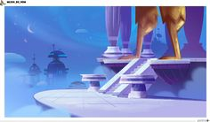 the Little White Bat: Marcus Level Game Concept Art, Animation Background, Environment Design, Little White, Statue Of Liberty, Backgrounds, Europe, Disney, Illustration
