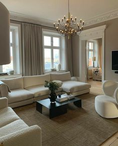Dream Home Design, Home Interior Design, House Design, Living Room Designs, Living Room Decor, Living Room Interior, Living Spaces, Apartment Interior, House Rooms
