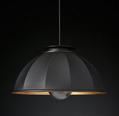Fortuny Cupola Pendant Black and Gold | RH Modern