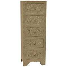 Crestview Collection Springfield Tall Nailhead Chest 19 x 15d x 54 550