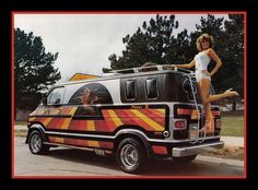 Post with 1941 votes and 123880 views. Tagged with art, airbrush, vans; Take a groovy trip back to the when the Shaggin' Wagons ruled the road! Dodge Van, Chevy Van, Mens Vans Shoes, Men's Vans, Vans Men, Customised Vans, Custom Vans, Art Van, Station Wagon