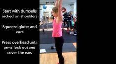 Dumbell Shoulder Press - annamarshnutrition - YouTube