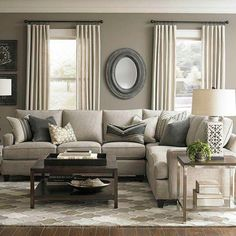 A neutral living room with stylish accessories