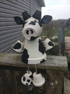 Clay pot terra cotta cow by Family Time Crafts (FB)