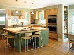 u shaped with island | modern-l-shaped-kitchen-with-island
