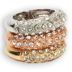 Stony Jewelry Pavé Stretch Ring Set #VonMaur
