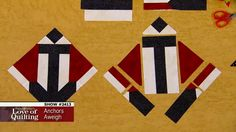 Fons & Porter's Love of Quilting - '2413: Anchors Aweigh' - Many quilters are inspired by vintage quilts. Marianne set out to re-create a 1940's Victory Quilt design using modern methods of cutting and piecing. You will also be shown how the Fons & Porter triangle trimmer can aid in the correct placement of triangle squares and how to cut setting triangles from simple strips.