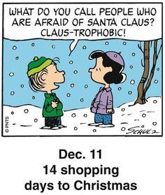 Peanuts Holiday Countdown Comic Strip, December 11, 2016     on GoComics.com