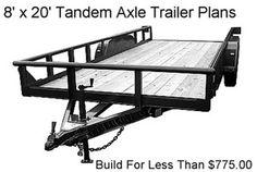 8X20 Flatbed Utility Trailer Plans, Instructions, BOM