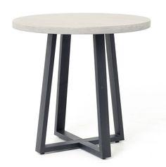 "Masonry Concrete 32"" Bistro Round Dining Table | Zin Home"