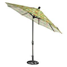 Home Decorators Collection 11 ft. Auto-Tilt Patio Umbrella in Berringer Spring, Berringer Spring/Black