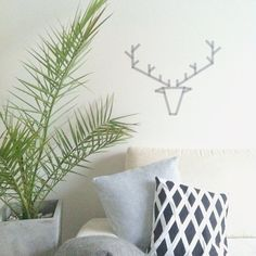 °washi tape stag head // modernekohome°
