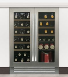 Caple Wi6229 SENSE Integrated Under Counter Dual Zone (Two Door) Wine Cabinet