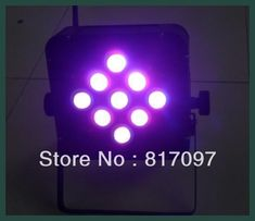 Reciente llegada 9X8W RGBW Inalambrico LED Par 4-en-1 Recargable Parled Bateria Luces Escenario Iluminacion Boda Envio Gratis