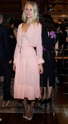 """Love this!! So chic, feminine, effortlessly classy!  o.c.o.  """"Poppy Delevingne wows in pretty pastel pink Louis Vuitton"""""""