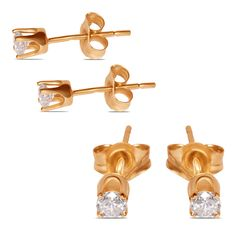 Ebay NissoniJewelry presents - Ladies 1/5CT Studs Earrings 14k Y/Gold    Model Number:EST0005D-Y455    http://www.ebay.com/itm/Ladies-1-5CT-Studs-Earrings-14k-Y-Gold-/322048728676