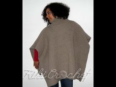 Crochet Turtleneck Poncho
