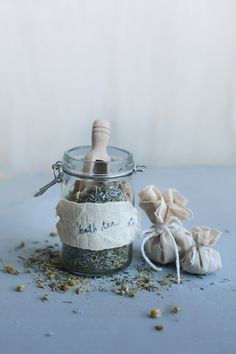 Relax and unwind  with lavender and chamomile bath tea