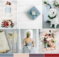 Winter Berry Wedding Inspiration Board from Bajan Wed