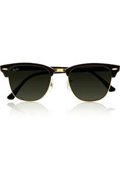 Ray-Ban|Clubmaster acetate sunglasses|NET-A-PORTER.COM #designersunglasses #sunny #designer #covetme #rayban