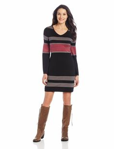 Sweater dress, but I really hate the boots with it, just can't stand black and brown together