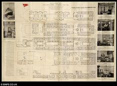 Henry Aldridge & Son will hold an auction near Bath, England, with a rare Titanic deck plan owned by an elderly couple in first class who died when the doomed liner sank. The deck plans were gi… Titanic History, Rms Titanic, Titanic Photos, Original Titanic, Titanic Artifacts, Beautiful Disaster, Deck Plans, Modern History, First Class