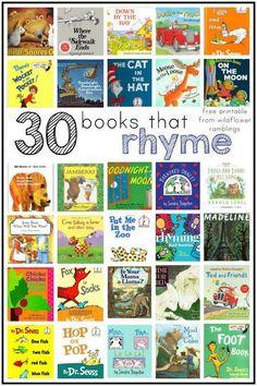 best rhyming books for children - Wildflower Ramblings