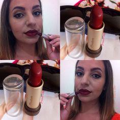 """Lindezaaaass mais uma corzinha pra coleção de batons rsrs, vem ver no Blog  """"Batom da semana com Natura aquarela- Vinho 01""""  Apaixonada nesse batom  {frescachic.blogspot.com}  #frescachic #batom #naturaaquarela #movimentonatura #maquiagem #make #batomdasemana #vermelho #chic #estilo #moda #style #modaprameninas #fashion #feminices #bocarosa #fashionices #inlove"""