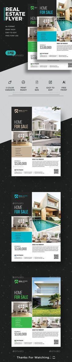 #Real #Estate #Flyer - Commerce Flyers Download here: https://graphicriver.net/item/real-estate-flyer/19501603?ref=alena994